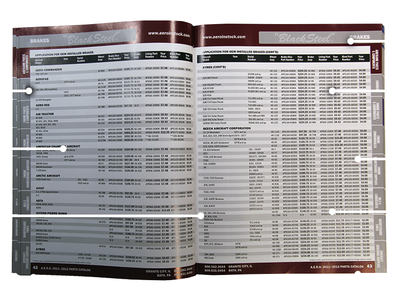 Specifications For Printing Catalogs